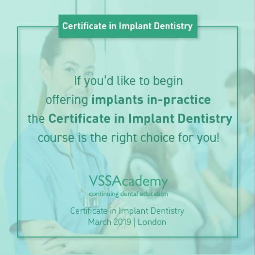 Dental Implants Training Course For Busy Dentists Launches on 23rd March 2019